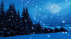 Happy New Year, Christmas,3d winter background, moon Stock Footage