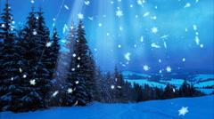 Happy New Year, Christmas, 3d winter background  - stock footage