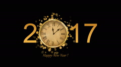 Happy New Year,Christmas,3d winter background  - stock footage