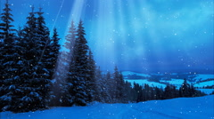 Happy New Year,Christmas,3d winter background  Stock Footage
