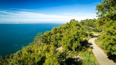 The gulf of trieste in a sunny day - stock photo