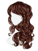 Curly Hair Style Stock Illustration
