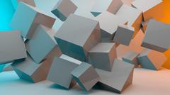 Cube wallpaper design Stock Illustration