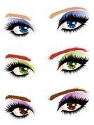 Eye make up - stock illustration