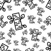 Birch seamless pattern Stock Illustration