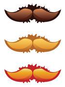 Mustaches Set Stock Illustration