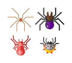 Danger insects vector set Stock Illustration