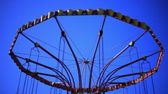 Classic Carousel on a Sunny Day - stock footage