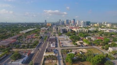 Aerial approach Downtown Fort Lauderdale Stock Footage