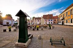 Baroque town of Varazdin old square Kuvituskuvat