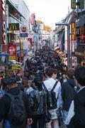 Crowded street - stock photo