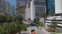 Panorama Tower Miami highest building Stock Footage