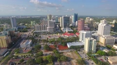 Aerial tour Fort Lauderdale FL Stock Footage