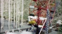 1962: Realistic mini model amusement park replica display. Stock Footage
