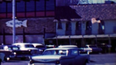 1961: Famous Fisherman's Wharf restaurant historic Alioto's Seafood. Stock Footage