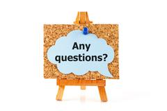 Any questions? - stock photo