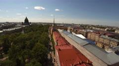 Aerial view. Admiralty, spire. Saint-Petersburg. 4K. Stock Footage