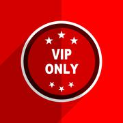 Red flat design vip only web modern icon Stock Illustration