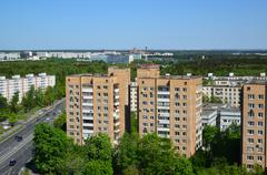 Top view  Zelenograd Administrative District, Moscow - stock photo