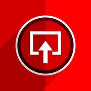 Red flat design enter web modern icon Stock Illustration