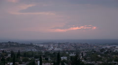 Time lapse of San Miguel de Allende sunset as the city lights up Stock Footage