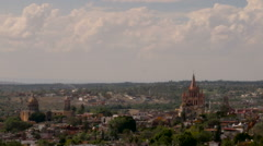Time lapse of clouds moving over San Miguel de Allende Mexico Stock Footage