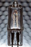 Halogen lamp powered - stock photo