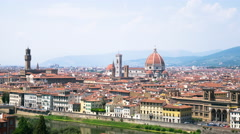 Beautiful cityscape of Florence with the Cathedral Santa Maria del Fiore - stock footage