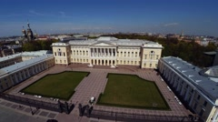 Aerial view. Russian Museum in St. Petersburg. 4K. Stock Footage
