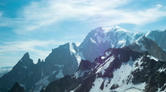 Beautiful 4K timelapse video of Mont Blanc mountain Stock Footage