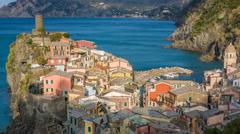 Vernazza, Cinque Terre, Italy Stock Footage