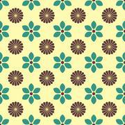 Floral seamless background, vector illustration. Stock Illustration