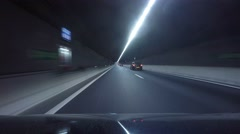 Driving into tunnel around Amsterdam Stock Footage