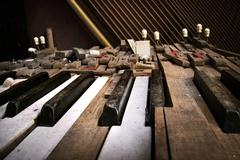 Old broken piano - stock photo