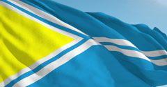 Beautiful looping flag blowing in wind: Tuva Stock Footage