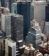 New York cityscape birds eye view - stock photo