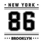T shirt typography graphic New York city - stock illustration
