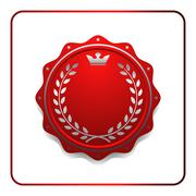 Seal award red icon Blank medal Stock Illustration