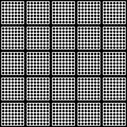 Polka dots and square seamless pattern - stock illustration
