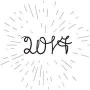 Banner 2017 lettering - stock illustration