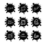 Eco Natural Lettering Stock Illustration