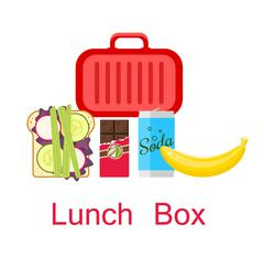 Lunch box vector - stock illustration