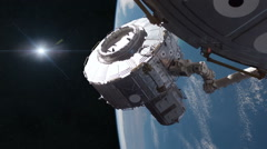 Space Station Construction Stock Footage