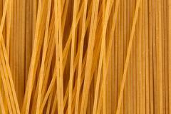 Organic whole wheat spaghetti Stock Photos