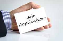 Job application text concept Stock Photos