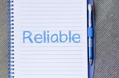 Reliable write on notebook Stock Photos