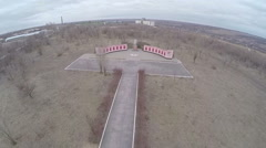 Monument devoted to the Great Patriotic War, aerial view - stock footage