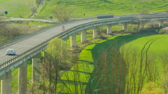 The roads through the hills of Tuscany, Italy Stock Footage
