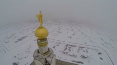 Bell chamber in Prokhorovka, Kursk Salient. Aerial view Stock Footage