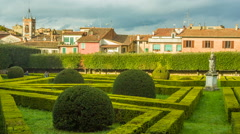 Leonini Gardens, San Quirico d'Orcia,Tuscany, Italy Stock Footage